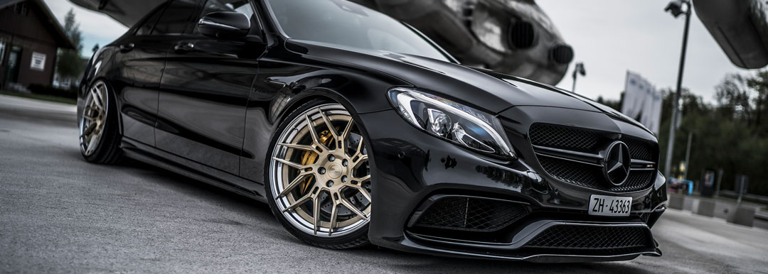 Z-Performance ZP.FORGED 5 Super Deep Concave Felgen in Royal Gold auf Mercedes