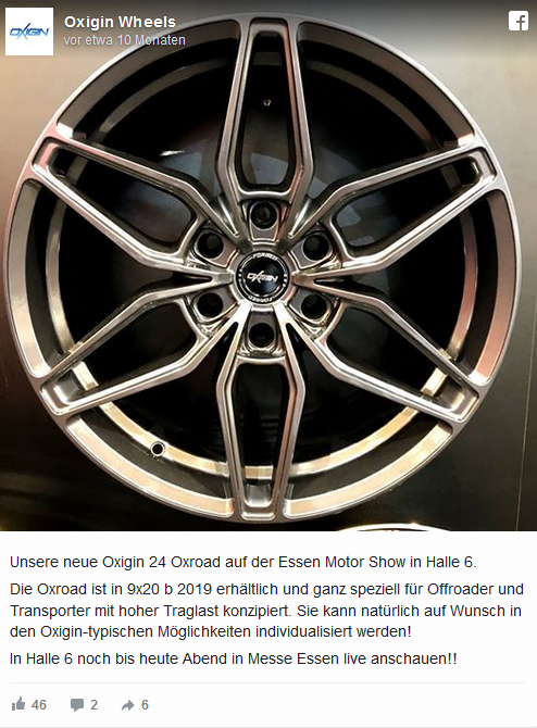 felgen-neuheiten-2019 – Unsere TOP 22 Favoriten - Oxigin Wheels Oxigin 24 Oxroad